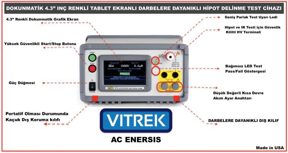 hipot yuksek gerilim test cihazı