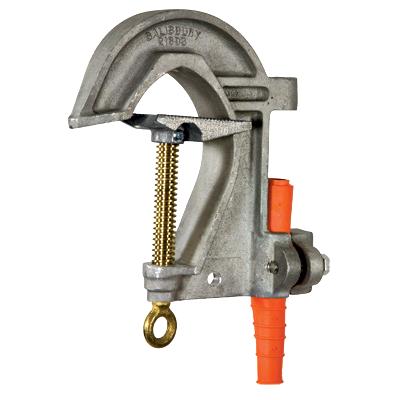 Salisbury 4283 Mounted 3.5`` Aluminum ``C`` Type Grounding Clamp for Substation Buses - Acme Thread